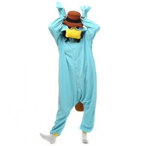 Image 1 - Unisex Perry the Platypus Costumes Onesies Monster Cosplay Pajamas Adult Pyjamas Animal Sleepwear Jumpsuit