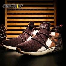 Onemix новые зимние Кроссовки удобные Мужские сапоги Женские Ботинки теплая шерсть Спортивная обувь Открытый унисекс спортивные спортивная обувь