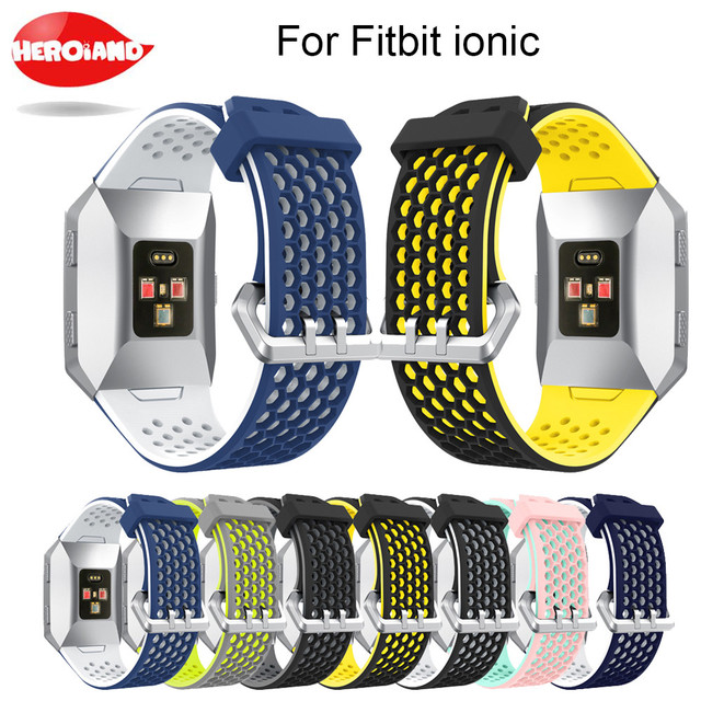 d280203dd Lightweight Ventilate Silicone Sport Watch Bands Bracelet for Fitbit Ionic  Smart Watch Adjustable Replacement Bangle Accessory