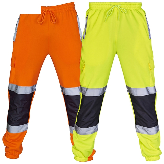 2018 New Warm Fashion Men Road Work High Visibility Overalls Casual Pocket Work Casual Trouser Pants  Autumn Tops  18NOV28