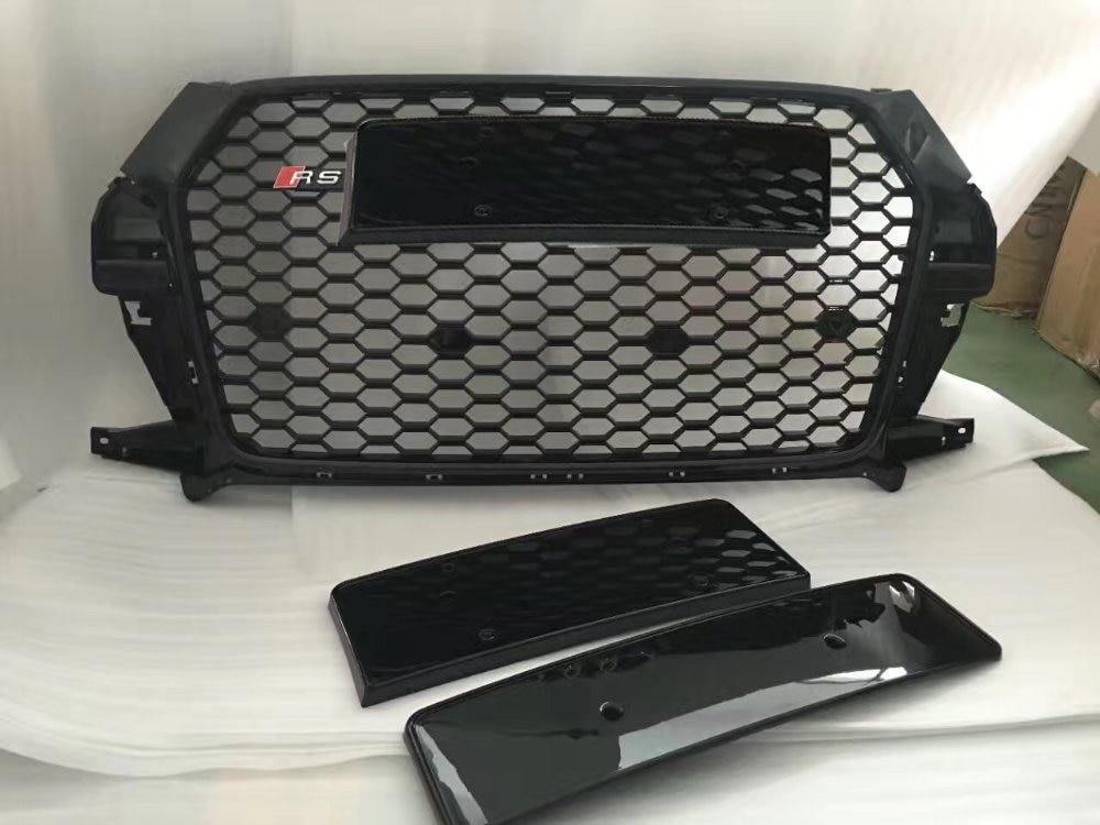 GOLFLIATH Q3 RSQ3 style Racing Grills ABS Black Gray Front Grille for Audi Q3 SQ3 RSQ3 front bumper 2016 2017 решетка радиатора audi q3 q3 q3