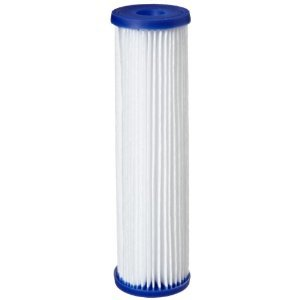 Coronwater 2.5 x 10 Pleated Polyester Water Filter Cartrige 5 micron High Flow Sediment for Water Filter