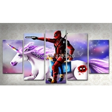 5D DIY Full Round/Square Diamond Painting Deadpool Diy Embroidery Mosaic Handmade Kits Cartoon Pattern Home Decor