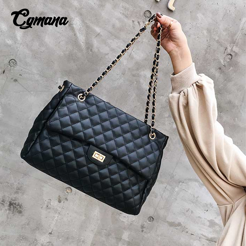 Big Bag 2018 Large Shoulder Women Travel Bags PU Leather Quilted Bag Female Luxury Handbags Women Bags Designer Sac A Main Femme