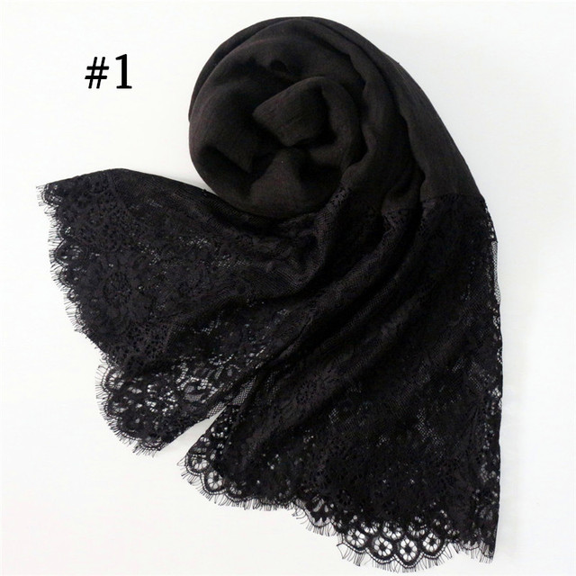 30 Colors Lace Scarf Hijab...