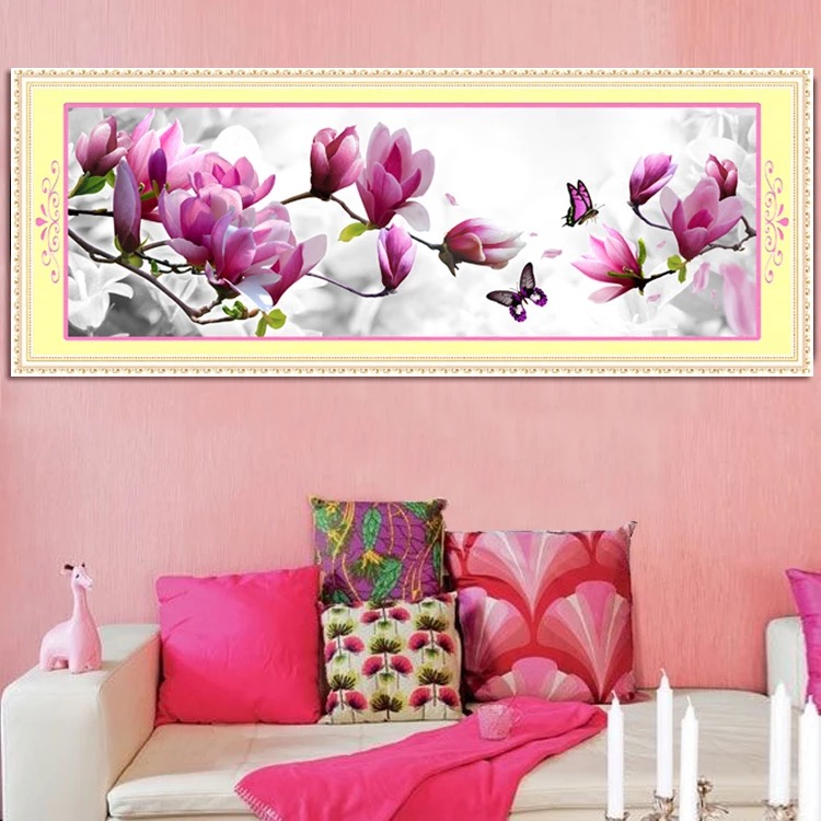 Round Diamond Painting 3D Jade orchid flower stereo modern for Embroidery Cross stitch kit Needlework DIY