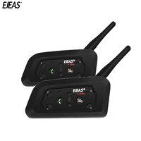 EJEAS 2X V6 Pro Intercom Helmet Bluetooth Communicator Headset Water Resistant Intercomunicador Moto Mic Phone MP3 For 6 Riders