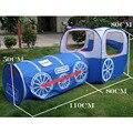 Tren azul kids Play tent, niños playhouse, Pop up tienda del juguete con PVC bolsa, túnel 2 1 niños jugar a las casitas exterior e interior tienda de campaña