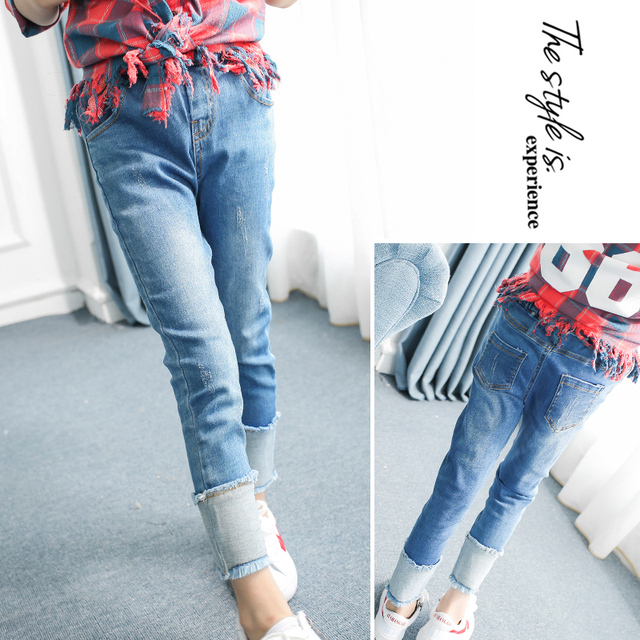 Skinny Jeans Pants For Girls 3 4 5 6 7 8 9 10 11 12 Years Baby Girl
