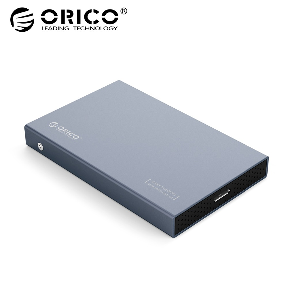 ORICO HDD Case 2.5 inch SATA to USB 3.1 Type C Gen 2 Case for Samsung Seagate SSD 4TB Hard Disk Drive Box External HDD Enclosure blueendless tool free hdd box 2 5 sata hdd externo external hard drive case 2 5 hard disk case plastic hdd case 2 5 usb 3 0