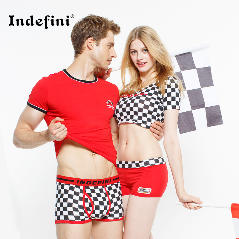 The New Couple Underwear Cotton Shorts For Men And Women -2420