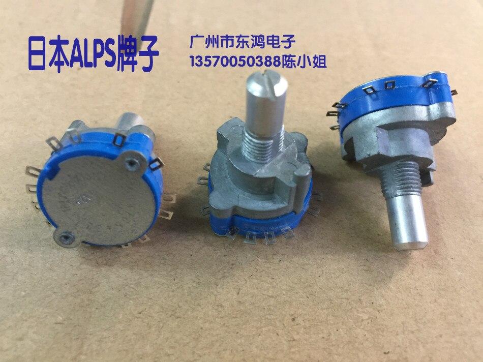 цена на 2PCS/LOT ALPS Alps SRRN sealed rotary band switch, 1 knives, 12 gears, 360 degrees round shaft, long 15mm