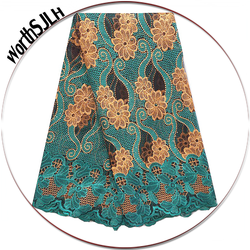 Women French African Lace Swiss Guipure 2018 Purple Latest Nigerian Lace Fabrics High Quality Africa Teal
