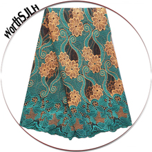 Women French African Lace Swiss Guipure 2018 Purple Latest Nigerian Fabrics High Quality Africa Teal Green Fabric