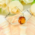 50% OFF Promotion Europe Popular Jewelry Classic Brazil Citrine Rings Wedding Ring