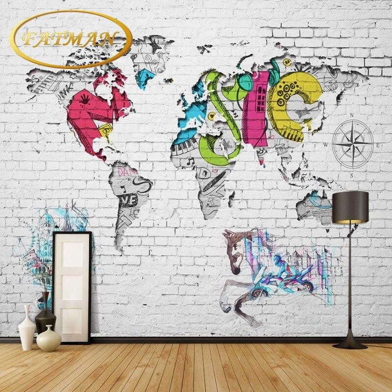 Graffiti Art Wallpapers Group 71: Custom Photo Wallpaper World Map Wallpaper Graffiti