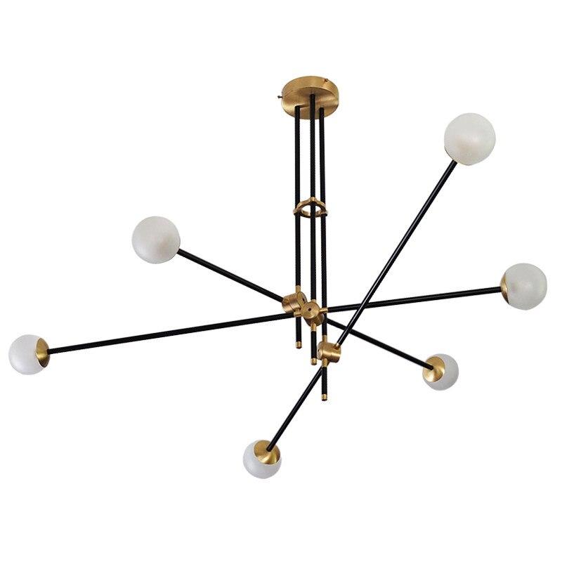 Metalen kroonluchter licht luxe glas bal verlichting woonkamer ...