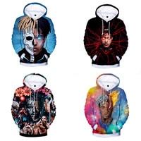 News American Rapper Men Hoodies 3D XXXTentacion Printing Pullovers Hip Hop Style Wind Fleece Winter Mens Child Clothing Hoodes