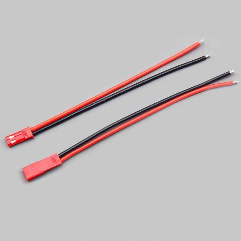 Силиконовый провод с штекерным разъемом, клеммный провод JST TAMIYA SM 2 P, штекер для мужчин и женщин, соединители проводов, красный и черный провод - Цвет: JST 2pairs