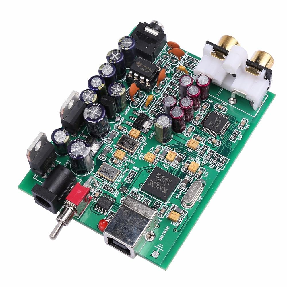 все цены на NEW K.GUSS XMOS U8 + AK4490 AMP NE5532 USB DAC Decoder Sound Card Headphone Output Support for PCM 192kHz DC9V, Free shipping онлайн