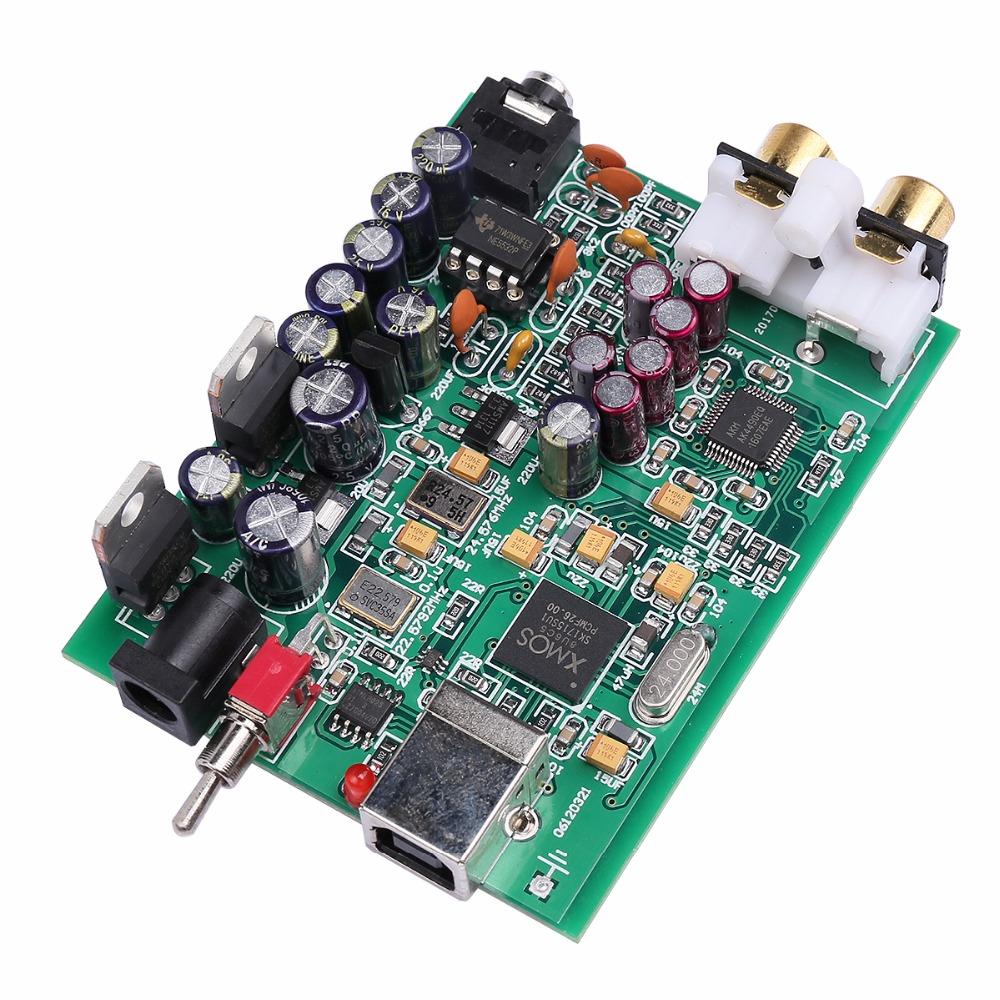 NOUVEAU K. GUSS XMOS U8 + AK4490 AMP NE5532 USB DAC décodeur Carte Son Casque Support de Sortie pour PCM 192 kHz DC9V, livraison gratuite