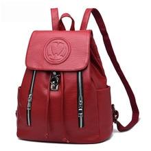 Для женщин рюкзак школьный Элитный бренд Новая мода рюкзак для Для женщин Обувь для девочек из искусственной кожи с застежкой на молнии рюкзак