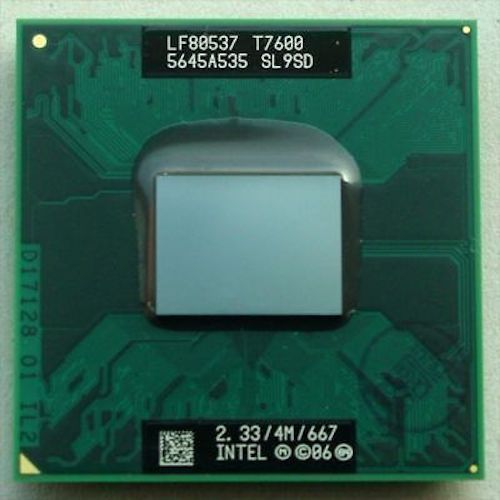 Original INTEL  T7600 SL9SD CPU 4M 2.33 667 MHz