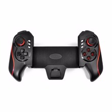 цена на Bluetooth Wireless Telescopic Game Controller Gamepad for 5-10 Inch Mobile Phone Tablet for Android 3.2 for iOS 4.3 Above