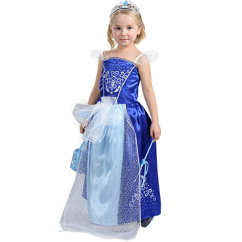 Kids Inspired Cinderella Princess Costume Beautiful Gift Or Halloween Dress-up For Your Little Girl