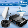New Powerful Sanqino GSM 3G Mobile Phone Signal Repeater LCD Display Dual Band Signal Booster 900 -2100 3G Amplifier A Kit