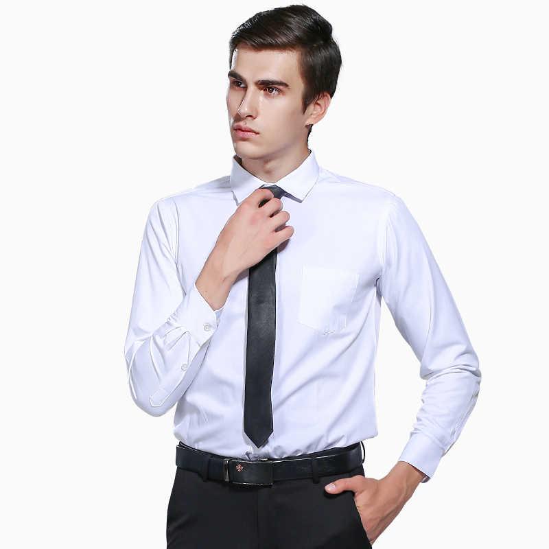 春&秋男性ドレスシャツパッチワークチェック柄ネックソリッドカラーロングスリーブフォーマルビジネスシャツオフィス着用