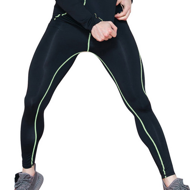 LASPERAL Men's Fitness Basketball Pants Elastic Compression Quick-drying Breathable Casual Male Tights