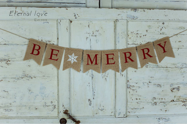 be merry christmas bannerchristmas be merry burlap bannerholiday bannerchristmas banner - Merry Christmas Burlap Banner