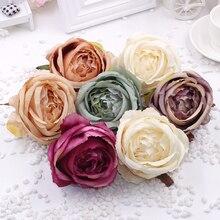 30pcs/lot Roses flower heads simulation silk flowers DIY artificial wedding background wall car decoration