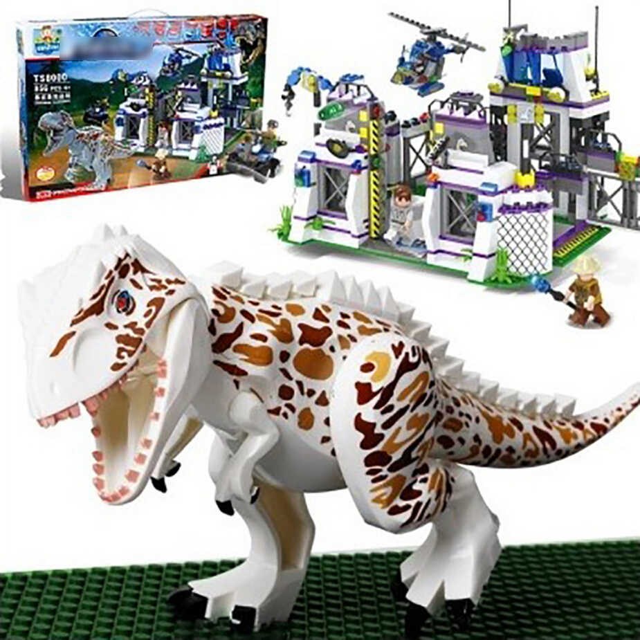 TS8000 Violent Brutal Dinosaur Compatible Legoing Jurassic Dinosaur World Indominus Rex Breako Bricks Building Block Toys