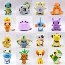 16pcs/lot 11-18CM Doll Toys Jirachi Cubone Charmander Snivy Ditto Froakie Anime Movie Plush Toys Stuffed Animals Plush Dolls