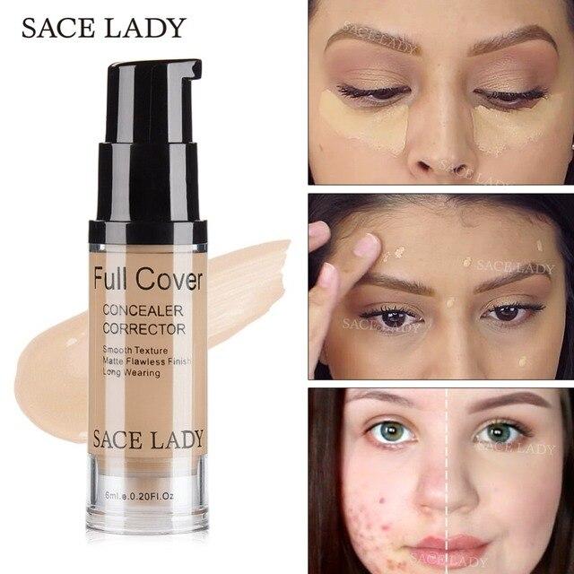 SACE леди уход за кожей лица корректоры для лица крем Полное покрытие макияж Жидкий корректор Основа макияжа лица база Make Up