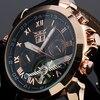 Fashion JARAGAR Men S Brand Watches Date Leather Tourbillon Flywheel Auto Mechanical Men Watche Wristwatch Gift