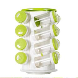 16Pcs Storage Shelf Seasoning Bottle Shelf Kitchenware Simple Bottle Clips Rotate Kitchen Spice Organizer S3