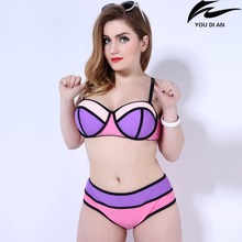 hot new fat swimwear bikini women large size swimsuit plus size Russian bathing suit beachwear swimming suit