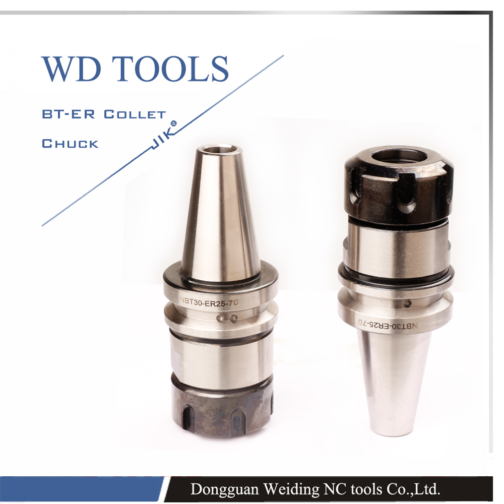 ISO standard NBT30 ER25 100L Balance Collet Chuck G2.5 25000RPM CNC Tool Holder Stainless Steel With Pull Stud Milling Lathe