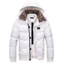 Cuello de piel! 2015 calientes del invierno de los nuevos hombres para hombre chaquetas de algodón acolchado down wadded la prendas de vestir, outwear, abrigos, Parka gruesa MDP001