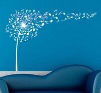 Muzyka Dmuchawiec Wall Decal Nuty Projektowania Grafiki Winylowe Naklejki Ścienne Wnętrze Domu Sztuki Malowidła Sypialni Wystrój H57cm x W83cm