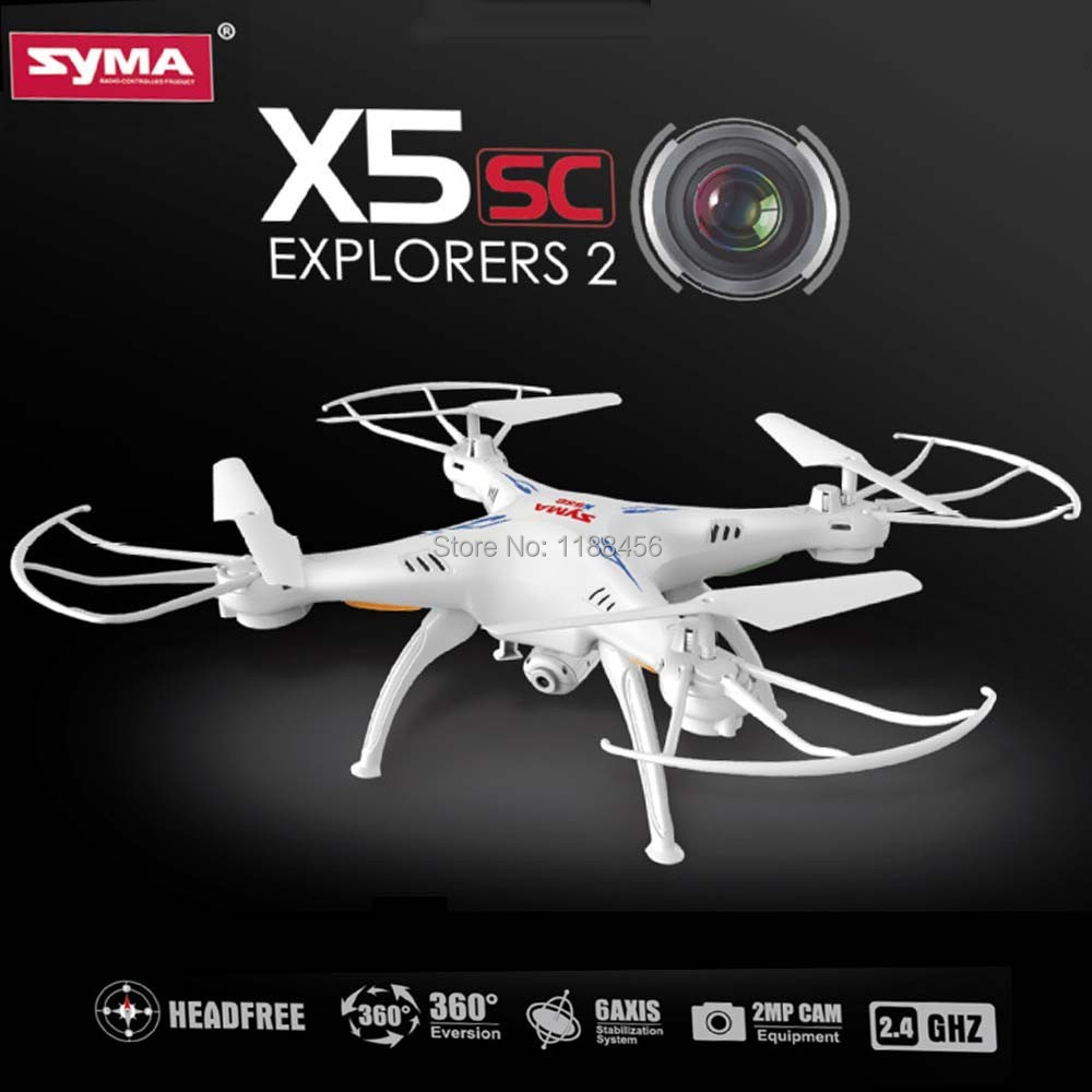 ФОТО (In stock) 100% Original Syma X5SC 4CH 6-Axis Quadcopter with 2MP Camera Headless Mode