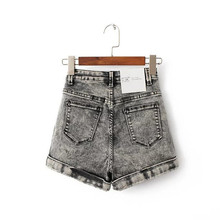 Women Euro Style High Waist Denim Shorts Stretch Casual Basic Jeans Shorts High Quality Shorts For Summer Spring Autumn