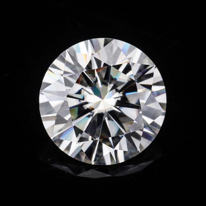 GH color 8.0mm 2 carats round brilliant cut  moissanites loose stone for engagement rings good quality