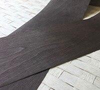 L 2 5Meters Width 15cm Thickness 0 25mm Carbon Black Walnut Wood Veneer Furniture Edge Strip