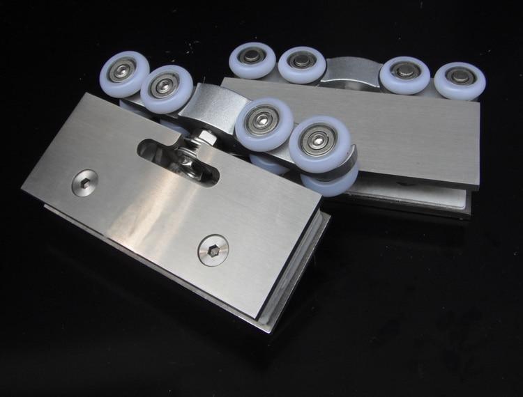 1 pair adjustable sliding glass door rollers hangers for Hanging sliding glass doors