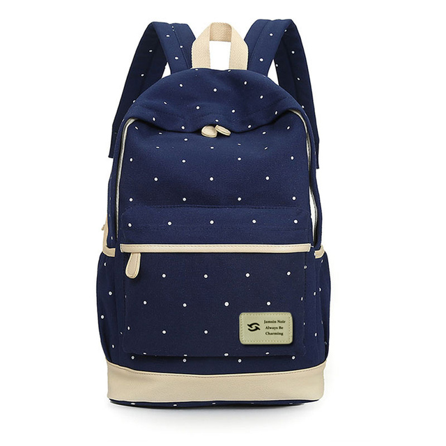 Women Canvas Backpack big girl student book bag with purse laptop 3pcs set bag high quality ladies school bag for teenager