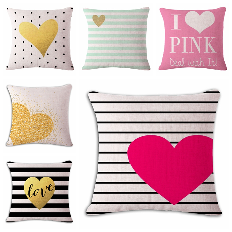 heart cheap decorative pillows cover yellow for couch housse de coussin modern design decorative. Black Bedroom Furniture Sets. Home Design Ideas